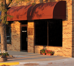 Bixby Law Office at sunset